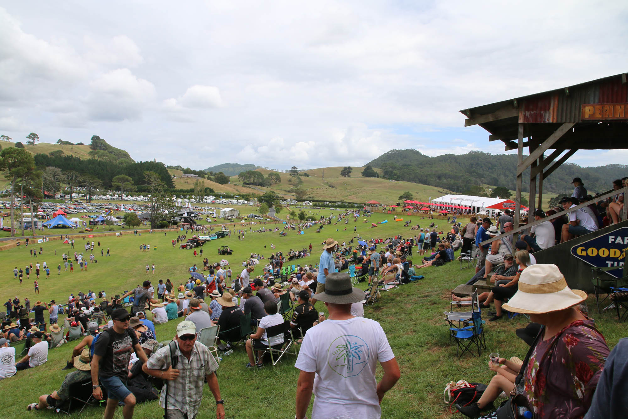 Crowd at the 2018 Leadfoot Festival