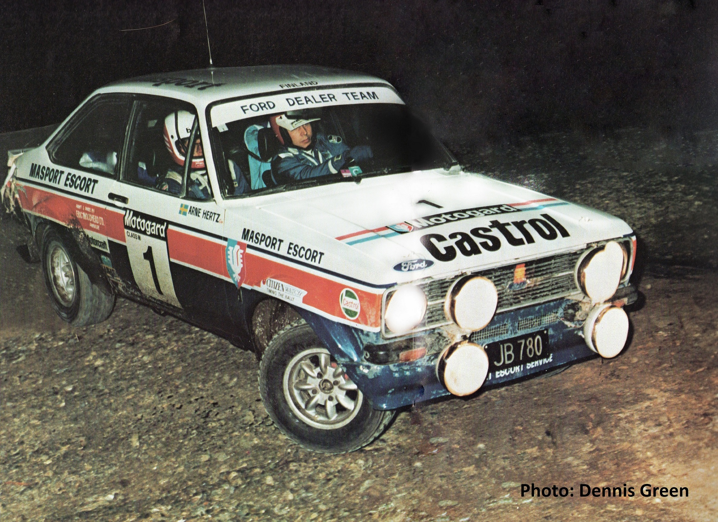 Andy Booth - 1977 Ford Works Escort RS1800 Rally Car